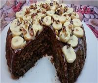 حلو اليوم  طريقة عمل «كيك الموز والشوكولاتة بالمكسرات»