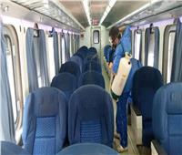 صور| «السكة الحديد» تواصل الإجراءات الاحترازية ضد كورونا