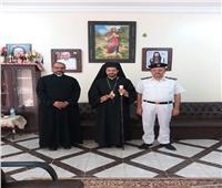 الأنبا باخوم يستقبل مأمور قويسنا بالمقر البطريركي لمنطقة الدلتا