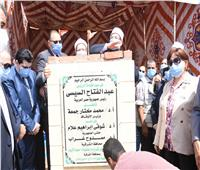 وزير الأوقاف ومفتى الجمهورية ومحافظ الشرقية يضعون حجر الأساس لمسجد ودار مناسبات