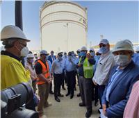 طارق الملا يتفقد مشروع تداول وتخزين المنتجات البترولية بميناء السخنة