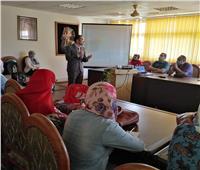 ورش عمل عن المقررات الدراسية «إلكترونيا» بجامعة المنيا