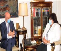 «عبدالدايم» تبحث مع سفير أسبانيا سبل تعزيز التعاون الثقافي والفنى بين البلدين