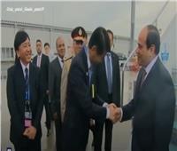 فيديو| السيسي يشهد فيلما تسجيليا عن الجامعة المصرية اليابانية