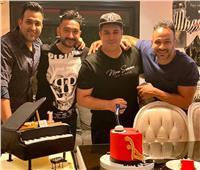 تامر حسين ومحمد عطيه يحتفلا بعيد ميلاد نادر حمدي
