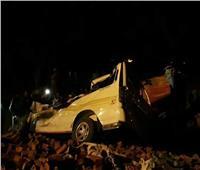 مصرع وإصابة 3 أشخاص في حادث تصادم في بني سويف