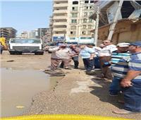 محافظ المنوفية يتابع أعمال تركيب البلدورات وإصلاح خط مياه حي غرب