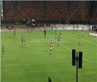 انطلاق الشوط الأول من مباراة الأهلي والمقاصة
