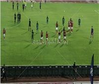 انتهاء الشوط الأول من مباراة الأهلي والمقاصة