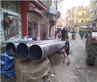 صور| رئيس مدينة المحلة يوجه بإنهاء مشكلة الصرف الصحي بمساكن الجمهورية