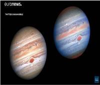 فيديو| «ناسا» تلتقط صورًا جديدة للعواصف على سطح «المشترى»