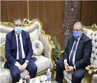 محافظ المنوفية يستقبل رئيس مصنع حلوان لمناقشة موقف المشروعات الجديدة