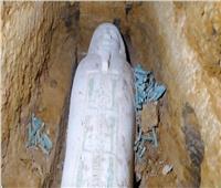العثور على تابوت حجري وتماثيل من الأوشابتي بمنطقة آثار الغريفة بالمنيا