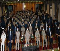 صور| وزير الدفاع يشهد مناقشة البحث الرئيسي لأكاديمية ناصر العسكرية العليا
