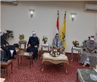 محافظ شمال سيناء يستقبل أعضاء قافلة الأزهر الدعوية