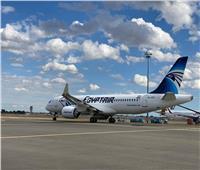 صور| مطار القاهرة يستقبل طائرة مصر للطيران الـ11 من طراز A220-300