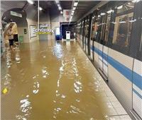 فيديو| مترو مدريد يغرق في مياه الأمطار