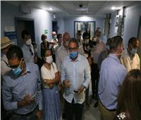 وزير السياحة و٣٠ سفيرا يتفقدون الإجراءات الاحترازية بمستشفى شرم الشيخ