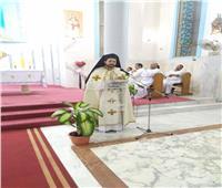 الأنبا باخوم يزور كنيسة السيدة العذراء بالمقطم