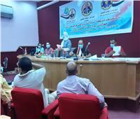 مياه المنيا تتابع تطبيق الإجراءات الاحترازية واللوائح المنظمة للعمل