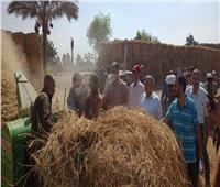 «الزراعة» و«البيئة» يتابعون أعمال منظومة جمع وتدوير قش الأرز فى الشرقية