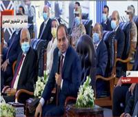 فيديو| الرئيس السيسي: مجمع مسطرد توقف 10 سنوات بسبب أحداث 2011