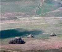 فيديو| لحظة تعرض 3 دبابات أذربيجانية لقصف أرمني في قره باغ