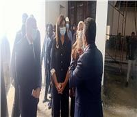 وزيرة الهجرة ومحافظ المنيا يتفقدان أعمال إنشاء «متحف إخناتون»