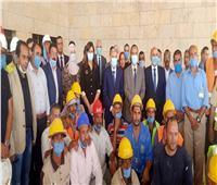 وزيرة الهجرة ومحافظ المنيا يتفقدان أعمال إنشاء متحف أخناتون