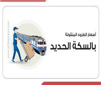 إنفوجراف | تعرف على أسعار الطرود المنقولة بالسكة الحديد