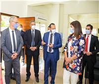 نبيلة مكرم تتفقد المركز المصري الألماني للوظائف والهجرة وإعادة الإدماج
