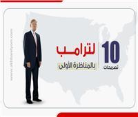 إنفوجراف| أبرز 10 تصريحات لترامب بالمناظرة الأولى