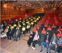 محافظ المنيا يستقبل رئيس الاتحاد المصري لـ«الميني فوتبول»
