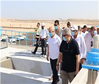 بالصور.. رسلان يتفقد مشروع توسعات الصرف الصحي بالغردقة