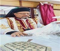 الأنبا بشارة يحتفل بعيد الصليب بكنيسة الأقباط الكاثوليك بمنهرى