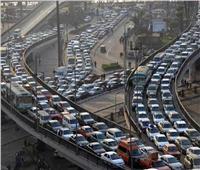 كثافات مرورية متحركة بمحاور القاهرة والجيزة