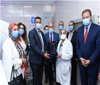 صور| البنك التجاري الدولي يفتتح وحدة الأشعة المقطعية بطب القاهرة