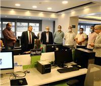 «هيكل»في جولة داخل مركز الخدمات الإعلامية للمراسلين الأجانب