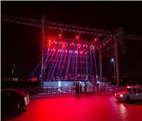 صور| حكيم ومحمد فؤاد في تجهيزات احتفالية «نصر أكتوبر»