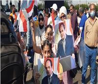 أطفال مصر من أمام المنصة: «بنحبك يا سيسي»