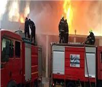 حريق هائل في مخلفات المصانع ببلبيس