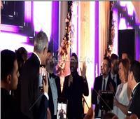 خاص| صور.. تامر حسني يشعل أجواء حفل زفاف أمير شاهين
