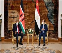 الرئيس السيسي يستقبل رئيس دولة كينيا