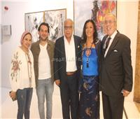 صور| نجوم الفن والمجتمع في معرض ريهام العدل