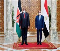فيديو| الرئيس السيسي يستقبل نظيرة الكيني أوهورو كينياتا بقصر الاتحادية