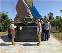 «فودة» يضع إكليل الزهور على النصب التذكاري للجندي المجهول بجنوب سيناء