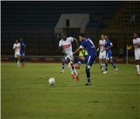 جماهير الزمالك تهتف لمرتضى منصور في مباراة سموحة