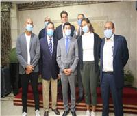وزير الرياضة يُكرم ميار شريف ومحمد صفوت بطلي التنس