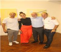 صور| ميس حمدان تُشارك في افتتاح معرض مديحة النجار