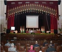 صور..رئيس جامعة القاهرة يعلن إطلاق المنصة التعليمية الذكية
